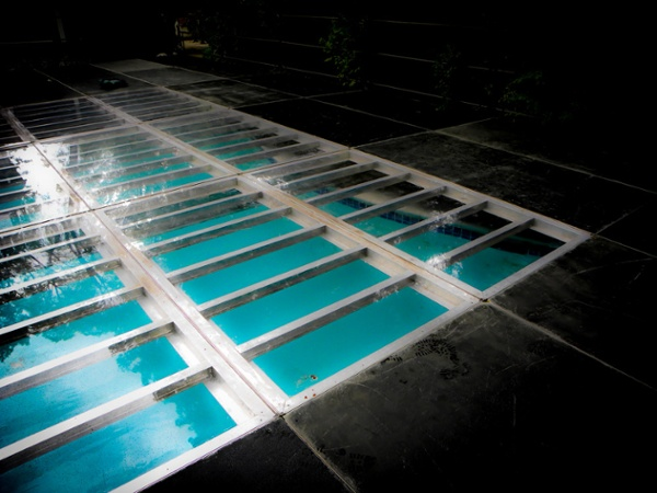 Performance Staging Clear Pool Cover Rental