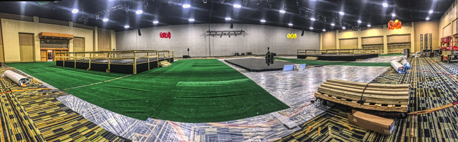 Installing the Interactive LED Pool Stage at the Orlando World Center Marriott