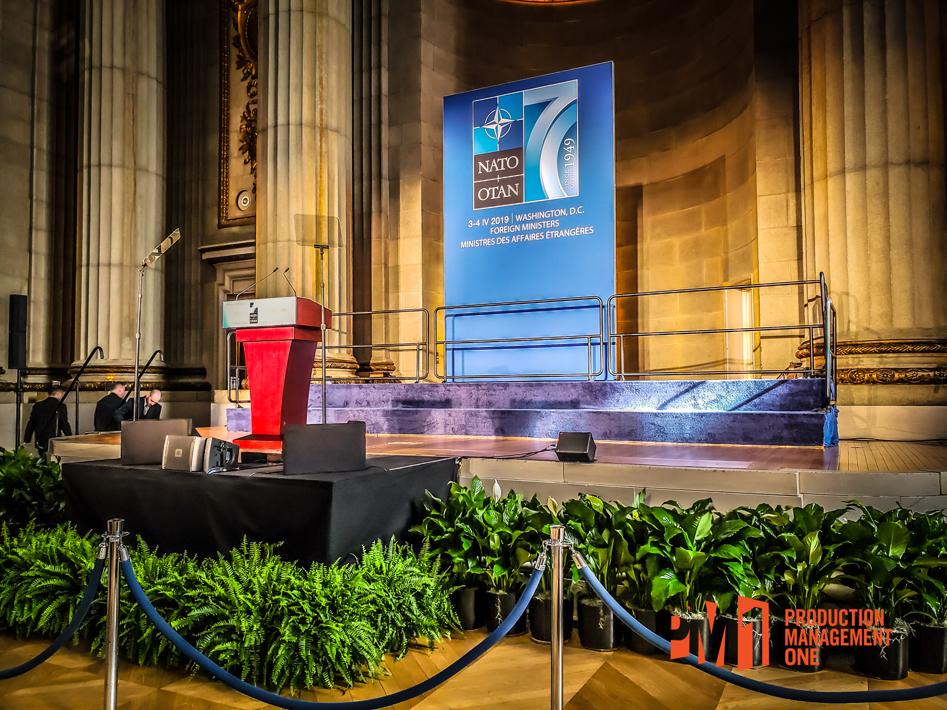 Full Event Production For NATO / US State Department at the Historic Andrew W. Mellon Auditorium in Washington DC