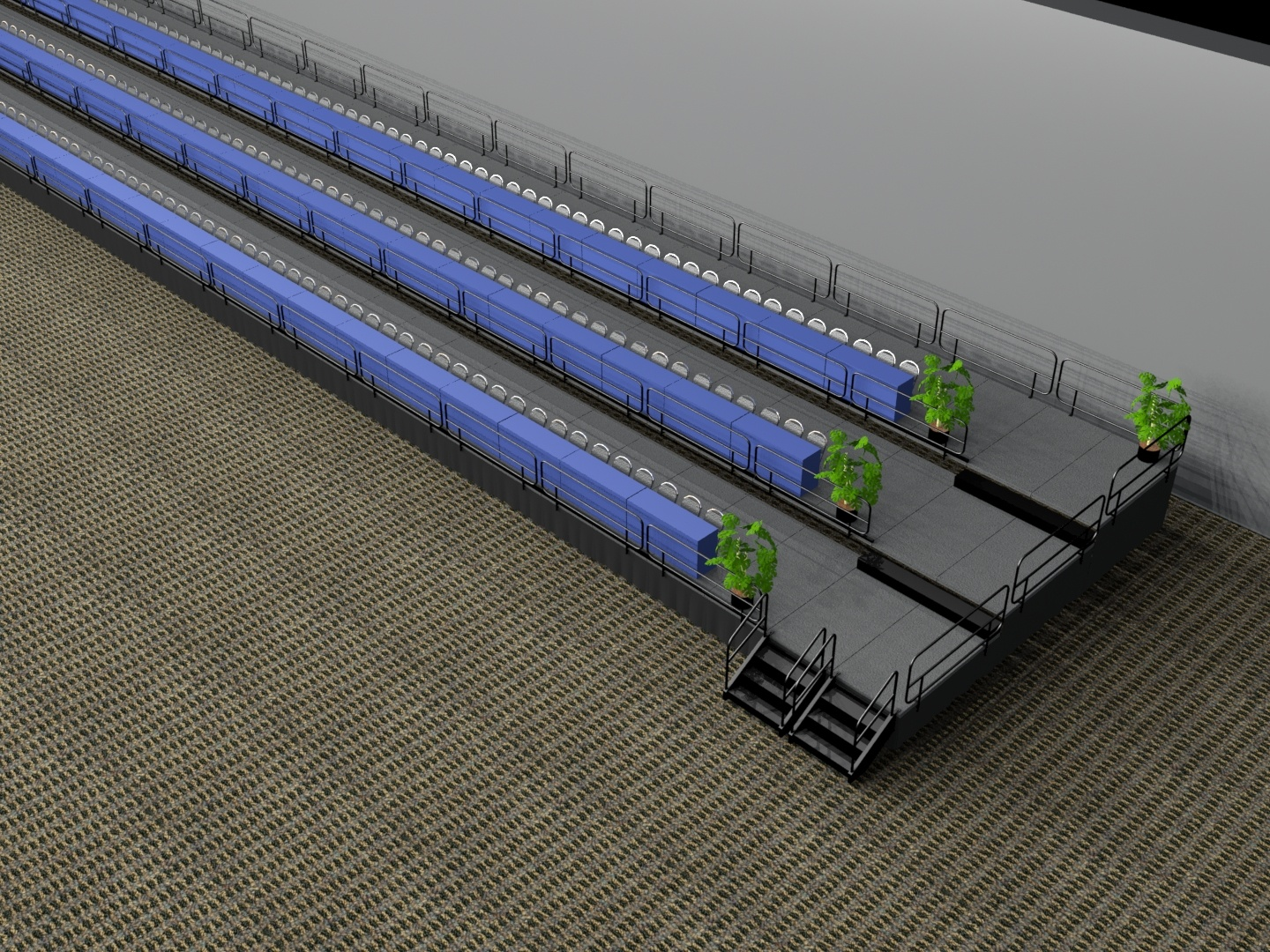 Tiered Classroom-Style Audience Riser by Performance Staging