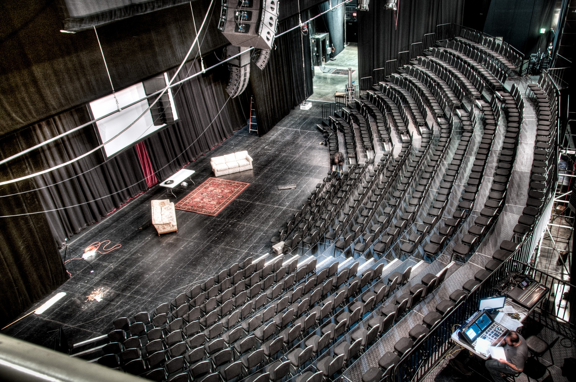 Tiered Curved Audience Risers at Kansas City's Starlight Theatre