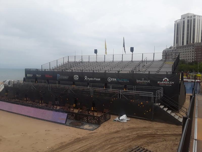Chicago Beach Volleyball Grandstands