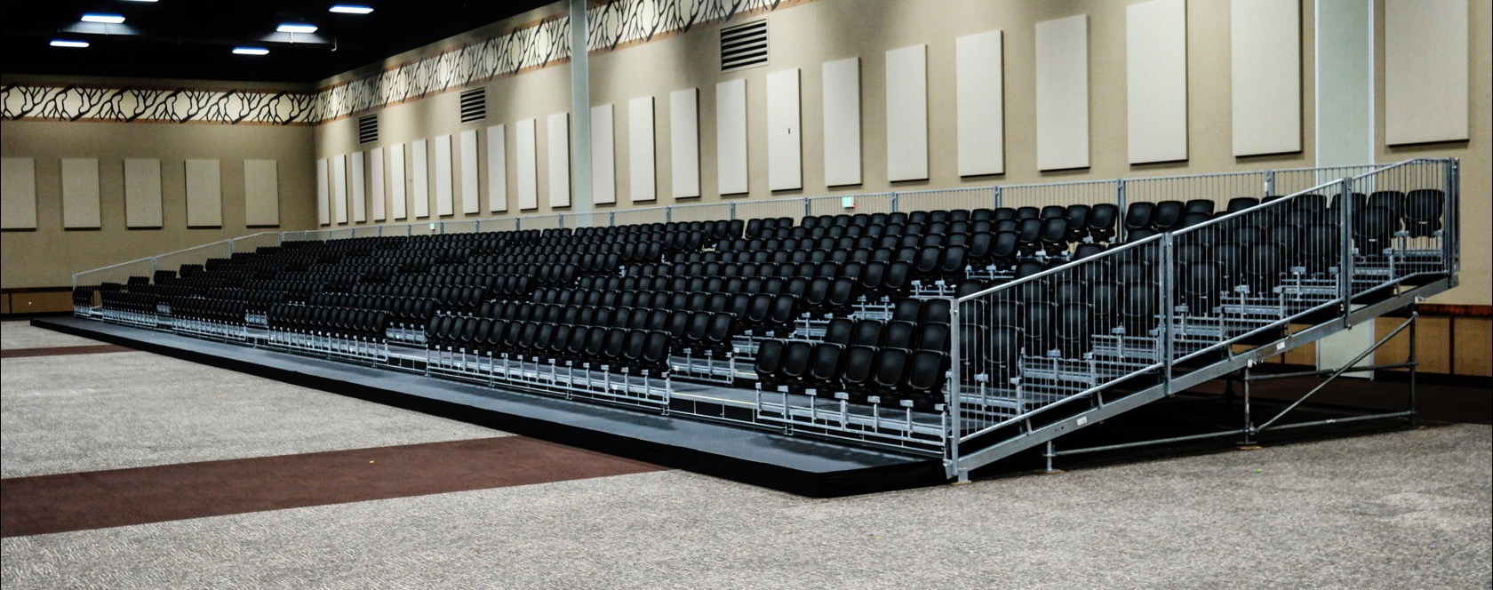 """Event Seating Rental: Stadium """"Tip-Up"""" seating"""
